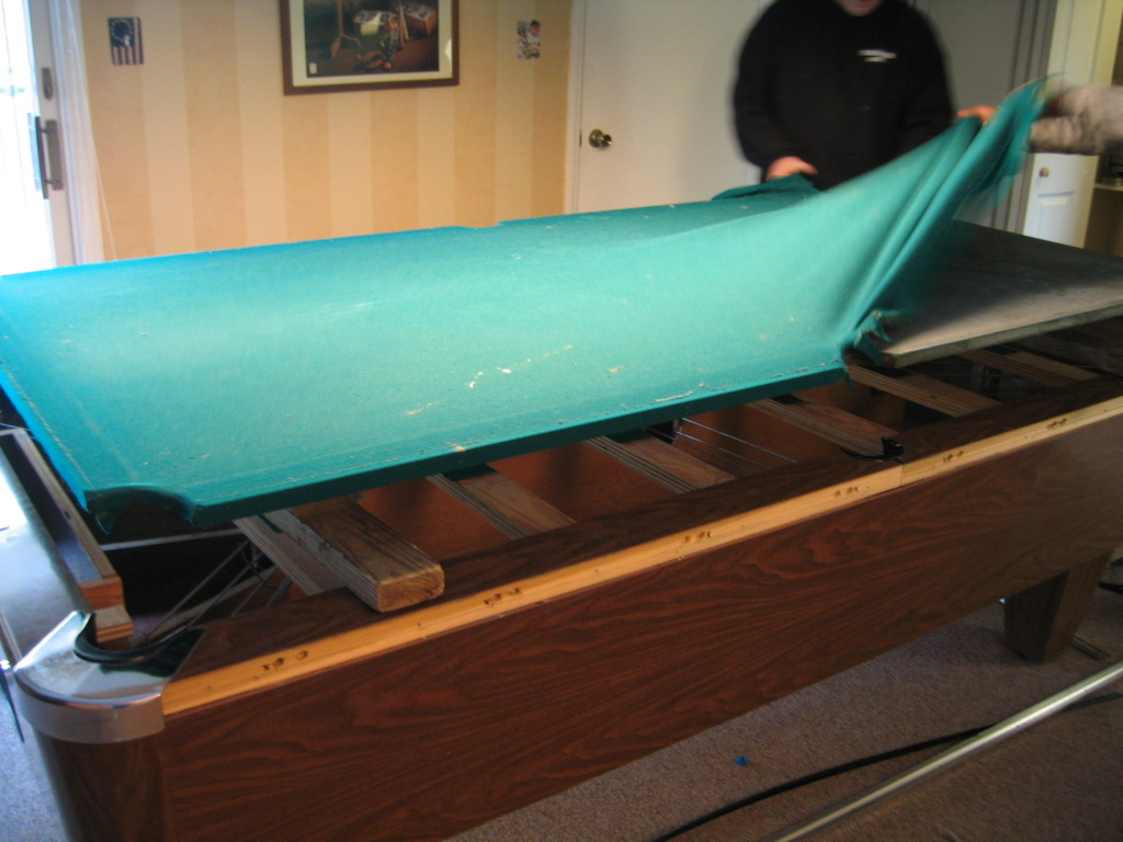 Photo Gallery - Pool table without slate